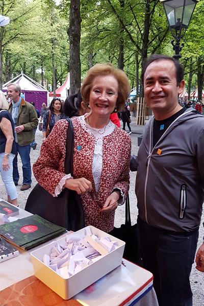 Ambassador Maria Teresa Infante at the Embassy Festival